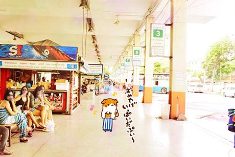 外国のバスターミナル